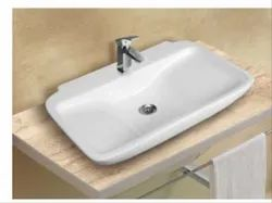 Mozio Italian Ceramic Loren WHB Table Top Wall Hung Basin for Home, Model Name/Number: L7500