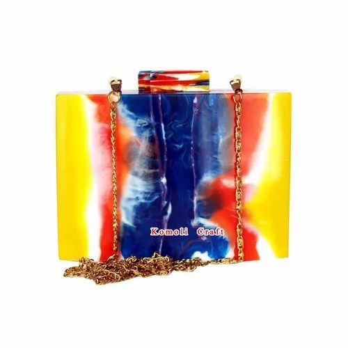 Handmade Vintage Design Resin Purse Clutch Hand Shoulder Bag