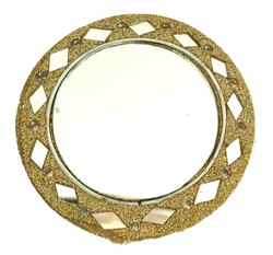 Nirmala Handicrafts Golden Lakh Mirror Home Decor Item