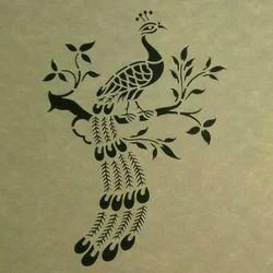 Peacock Sanjhi Paper Art