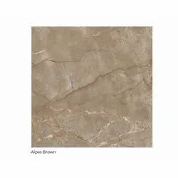 Polished Square Alpes Brown Ceramic Tile, Size: 120x120 cm, Thickness: 5-10 mm