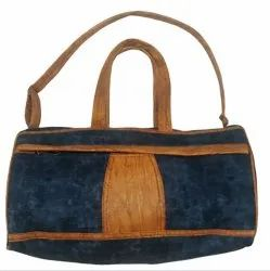 Vrinda Blue and Brown 18 Inch Artificial Leather Travel Bag