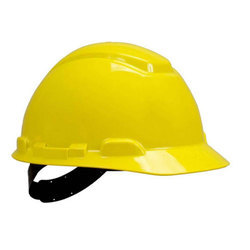 Yellow 3M Safety Helmet Ratchet H400R, for Industry