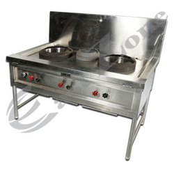 East Zone 3 Chinese Cooking Range, For Hotel, Restaurant