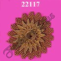 Flower Pattern Gold Zari Patch