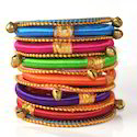 Indian Handcraft Trendy Peace Party Wear Silk Thread Bangles