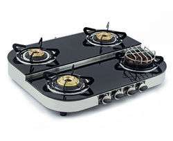 Four Burners Toughened Glass Cooktop