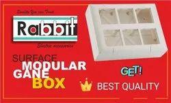 Rabbit & Repeat PVC Modular Open Gang Box, Push Button Box, 4 Way