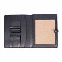 Button Leather Business Folder Document Holder