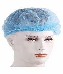 Blue Disposable Non Woven Bouffant Cap