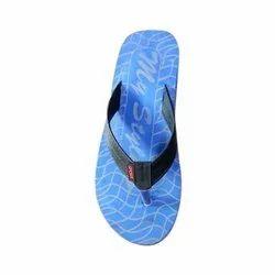 Men Blue Daily Wear Rubber Slipper
