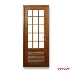 Solid Wood Seaoux Wooden Single Door
