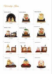 Ganesh Statues Wood God Statue Desktop Office Utility, For Home