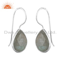 Labradorite Gemstone 925 Fine Silver Designer Hook Earrings Jewelry