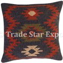 Handwoven Kilims Wool Jute Cushion Cover