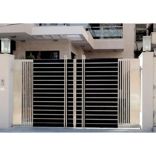 Stainless Steel Modern House Gate Designs: SSEW Modern Stainless Steel Gate, Rs 450 /kilogram, Shiv