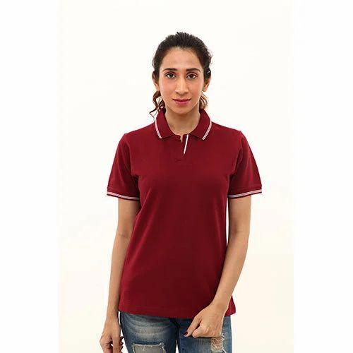Ladies Cotton Plain T Shirt at Rs 195  piece  10434b6b1