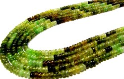 Natural Grossular Green Garnet Rondelle 4 To 7mm Strand 8 Inches