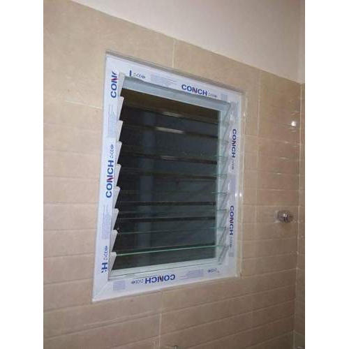 White Upvc Bathroom Window Rs 550