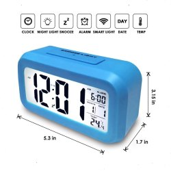 Digital Clock Alarm (Blue)