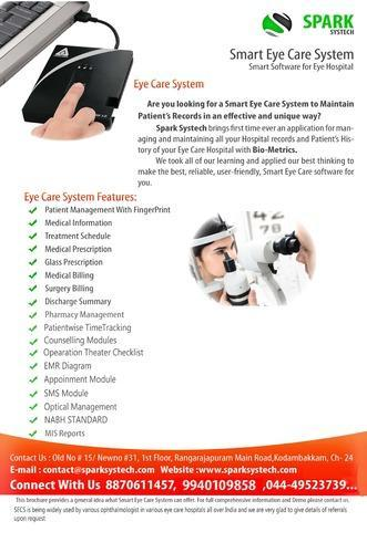 Eye Hospital Eye Clinic Ophthalmology Software