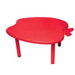 Apple Plastic Table, Size: 43 x 39 x 20 mm