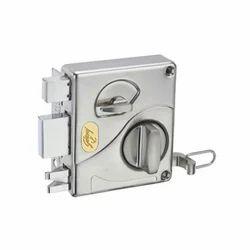 Godrej Ultra Tribolt Brushed Steel Rim Lock