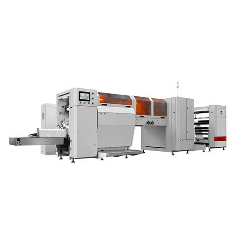 Carry Bag Fully Automatic Brown Paper Bag Making Machine, 18 Kw