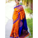 Silk Cotton Kachhi Mirror Saree