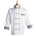 Chef Coat with Black & White Check Pattern