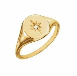 Men Gold Signet Ring