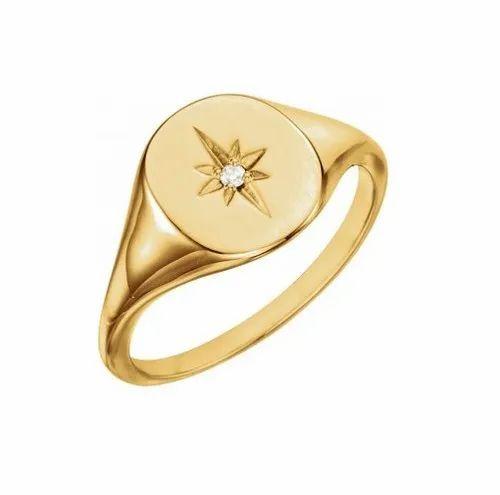 Men Gold Signet Ring at Rs 22000/piece | Bani Park | Jaipur| ID: 22283469862