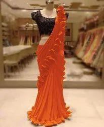 Ladies Ruffle Style Saree