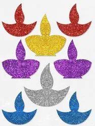 Osiyankart Diya Glitter Sticker