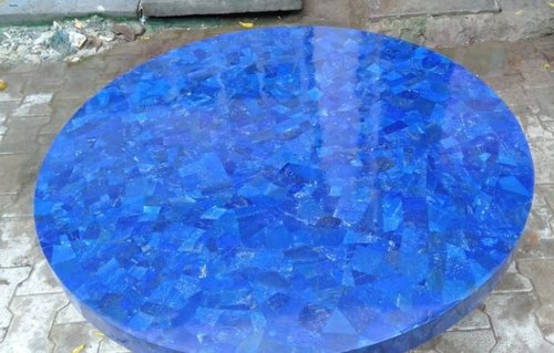 Blue Lapis Lazuli Table Top, Size: 5 Ft Dia, Rs 175000 /piece Mughal Inlay  Art | ID: 20873516188