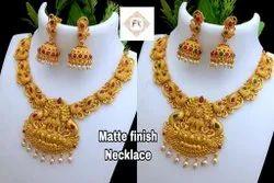 Matte Finish Alloy Jewellery Set -100600100