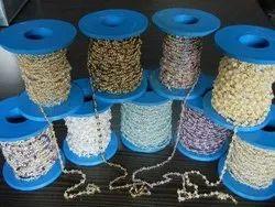 Sterling Silver Gemstone Beaded Chain