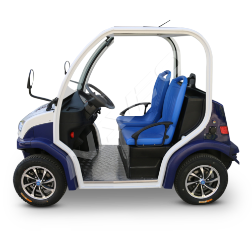 Blue And White 2 Seater Electric Vehicles