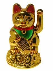 Feng Shui Luckycat Gold Statue
