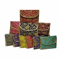 Silk Party Wear Stylish Sling Purse, Size: 9.5