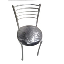 Micra Leather And Stainless Steel Restaurant Chair