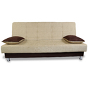 Adorn India Alyssum 3 Seater Sofa Cum Bed ( Brown & Beige)