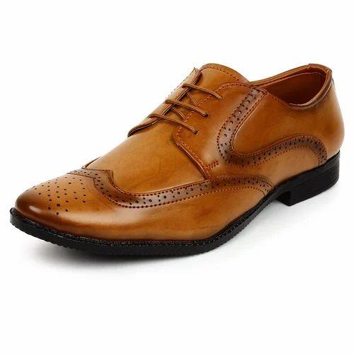 3375e77e1ad5e3 Anshul Fashion Leather Party Wear Formal Shoes Men' s Lace-up Designer  Brogue Shoes