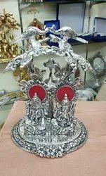 Metal Silver Plated Laxmi Ganesh Tree