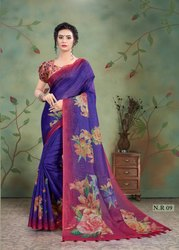 Vinamra Linen Digital Vol 1 Traditional Wear Printed Saree