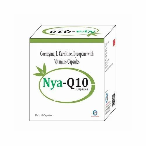 Nya-Q Coenzyme L Carnitine Lycopene with Vitamins Capsules, Packaging Type: Box