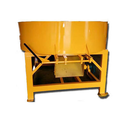 Prematech Engineering Works Yellow Pan Concrete Mixer With Roller