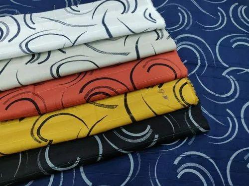 58 60 Cotton Designer Printed Fabric
