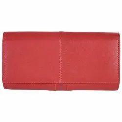 Ladies Red Leather Wallet