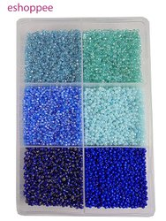 ESHOPPEE 3mm Glass, Seed-Beads for Jewelry Making Art and Craft DIY Project kit